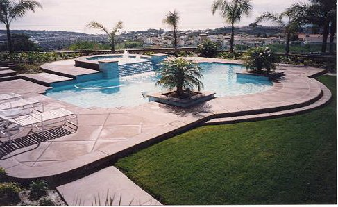 Designer Pool and Spa
